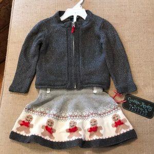 Cynthia Rowley Girls Christmas Outfit NWT Gray